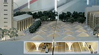Model of the proposed new station