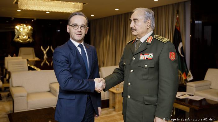 Almanya Dışişleri Bakanı Heiko Maas Perşembe günü General Halife Hafter ile görüştü