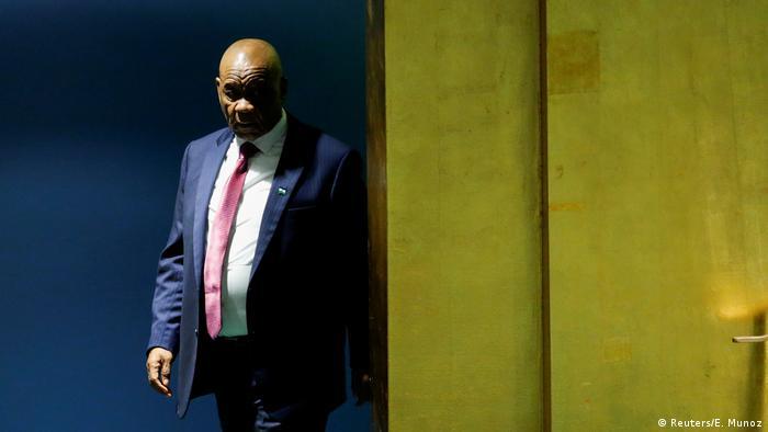 Lesotho Prime Minister Thomas Motsoahae Thabane