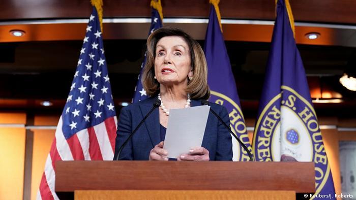 Нэнси Пелоси возмущена решением Сената по импичменту Трампа   Новости из  Германии о событиях в мире   DW   06.02.2020