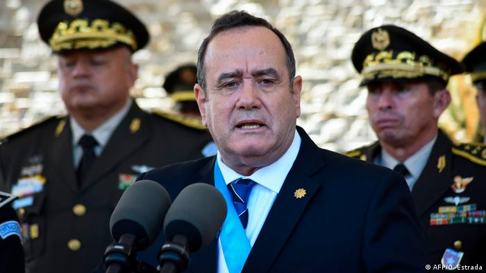 Guatemala Präsident Alejandro Giammattei