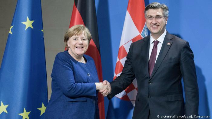 Angela Merkel i Andrej Plenković