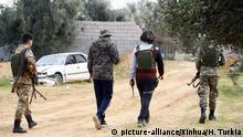 Libyen Regierungstreue Kämpfer