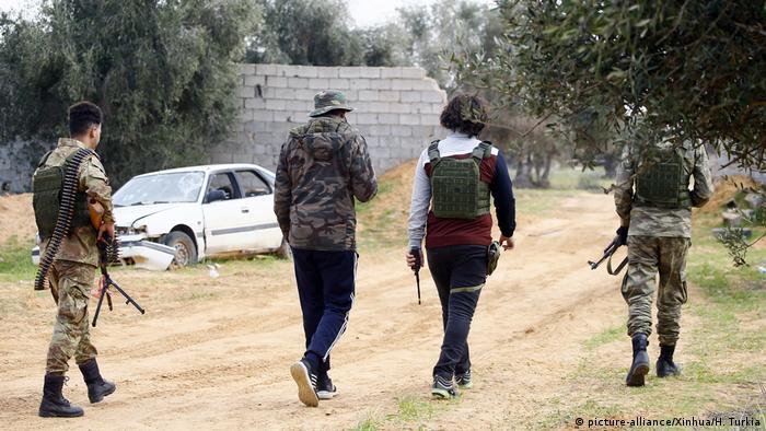 Бойцы военного отряда Правительства национального согласия Ливии
