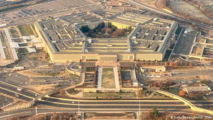 Foto aérea del Pentágono en Washington.