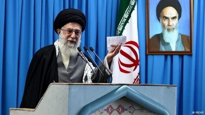 Khamenei during Friday prayers