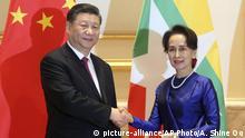 Mynmar | Xi Jinping mit Aung San Suu Kyi