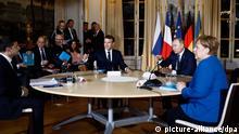 Frankreich Normandie-Gipfel Merkel, Macron, Putin und Selenskyj