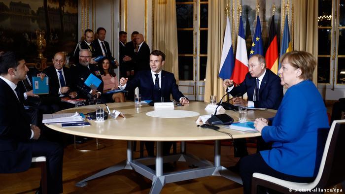На саммите нормандской четверки в Париже в декабре 2019 года