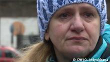 Elena Sorokina, ehemalige Gefangene bei den Separatisten in Lugansk 1. Beim Austausch 2-3. Portrait Foto Oleksandra Indyukhova (DW)