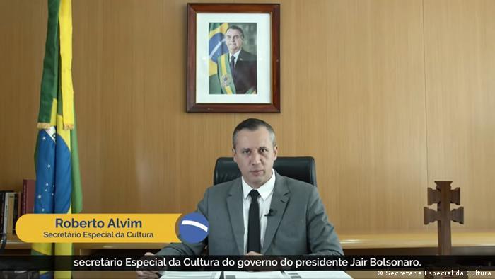 Screenshot Video Brasilien Roberto Alvim Kultursekretär (Secretaria Especial da Cultura)