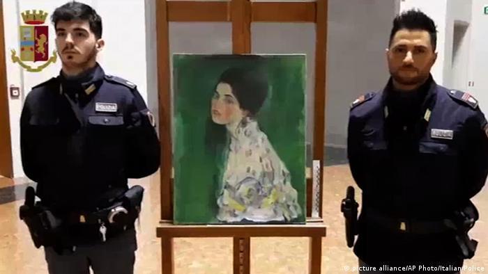 Cuadro del pintor Klimt, robado y vendido ilegalmente, fue encontrado en Piacenza. Imagen del 11 de diciembre de 2019