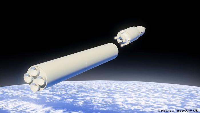 Simulação mostra lançamento do míssil hipersônico russo Avangard a partir do espaço