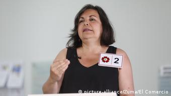 Rocío Silva Santisteban, congresista por el Frente Amplio de Perú.