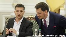 Ukraine Präsident Wolodymyr Selenskyj und Ministerpräsident Oleksij Hontscharuk