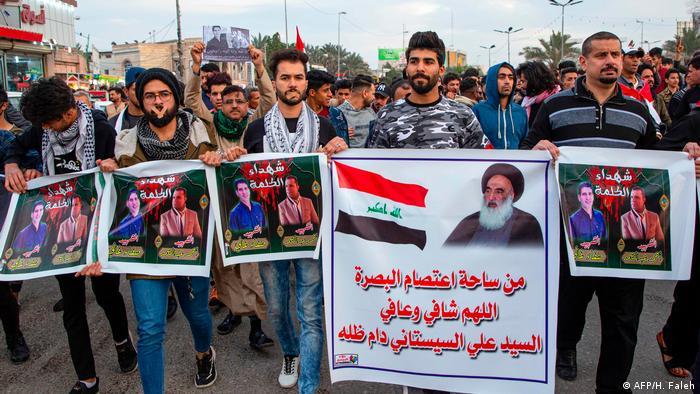 Iraq protesters in 2020