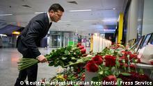 Ukraine Präsident Wolodymyr Selenskyj Gedenken Opfer Flugzeuabsturz