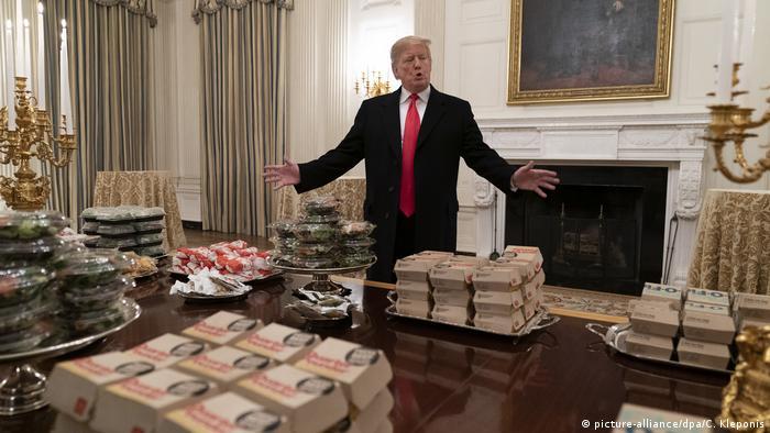 Donald Trump Fast Food Burger