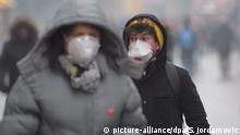Sarajevo Belgrad Luftverschmutzung Demonstration