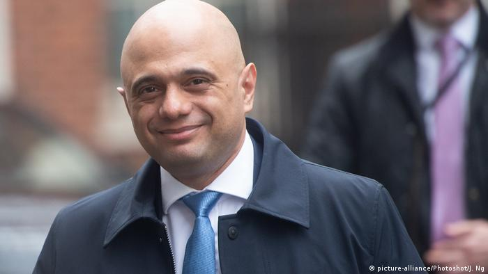 British Chancellor of the Exchequer Sajid Javid