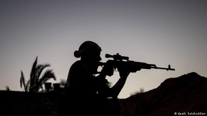 Libyen Konflikt l Scharfschütze - Kämpfer