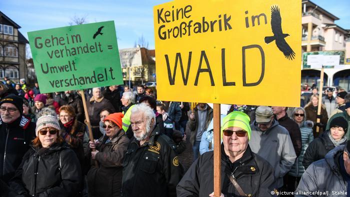 Протест проти будівництва гігафабрики Tesla під Берліном, 18 січня 2020 року