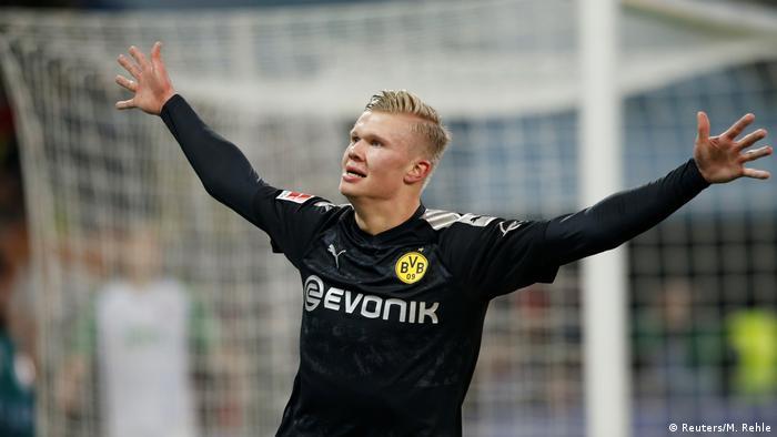 Bundesliga FC Augsburg - Borussia Dortmund | Tor Erling Haaland (Reuters/M. Rehle)