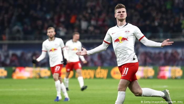 Timo Werner's first goal of the day was a sumptuous hit