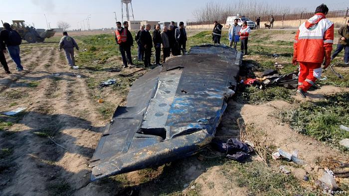 Iran Absturzstelle von Flug PS752