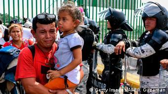 Foto de migrantes centroamericanos