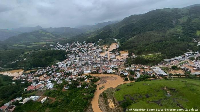 La ciudad de Iconha, en Sipirito Santo, es una de las localidades más golpeadas por las lluvias. (18.01.2020)