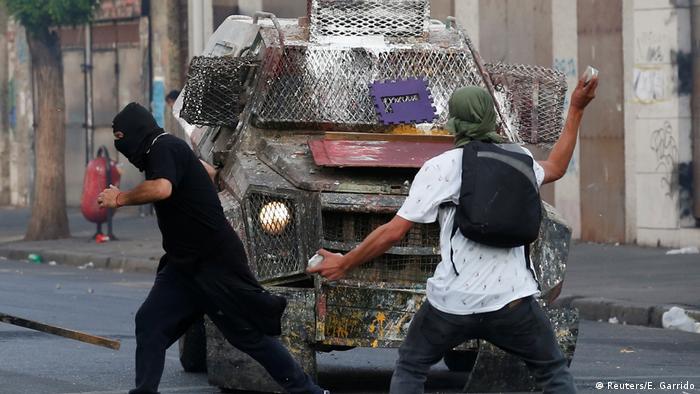 Chile   Proteste gegen Chiles Regierung in Valparaiso