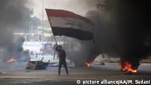 Irak Nahost-Konflikt l Unruhen und Proteste in Bagdad (picture alliance/AA/M. Sudani)