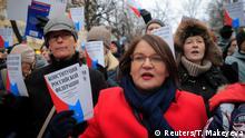 Russland l Protest zum Gedenken an Stanislav Markelov und Anastasia Baburova