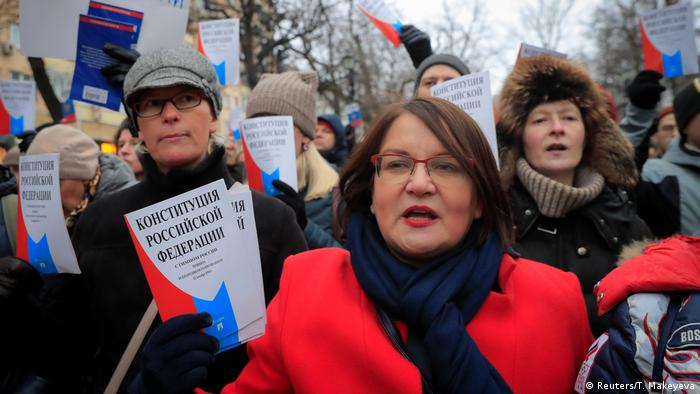 Russians protested against the changes to the constitution on Sunday