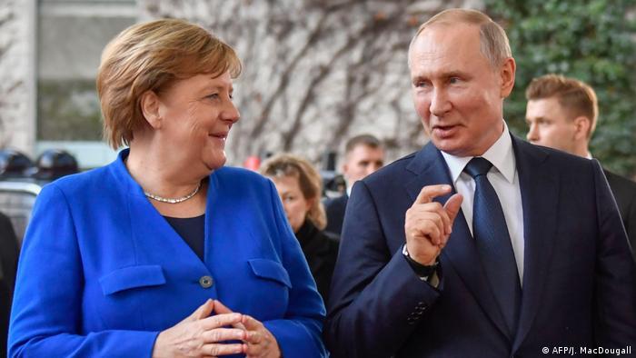 Deutschland Libyen-Konferenz in Berlin hat begonnen | Merkel und Putin