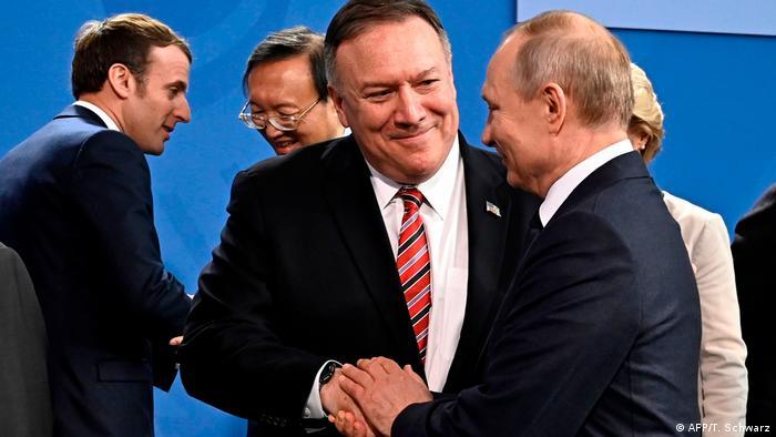 Deutschland Libyen-Konferenz in Berlin hat begonnen | Pompeo und Putin