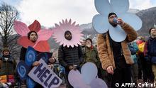 Schweiz l Vor dem Weltwirtschaftsforum in Davos - Klimaprotest