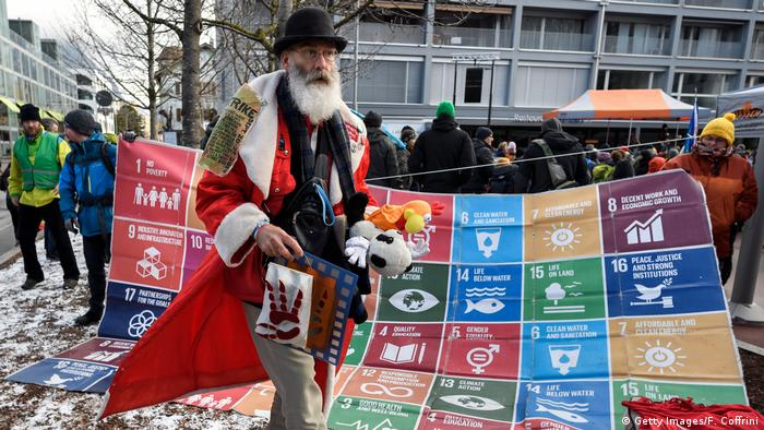 Climate protest march to Davos begins