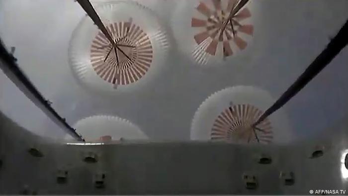 USA Test einer SpaceX-Raumfähre (AFP/NASA TV)