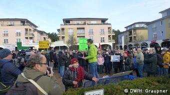 Protest mieszkańców Gruenheide