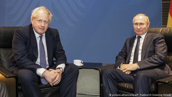 Борис Джонсон и Владимир Путин в Берлине
