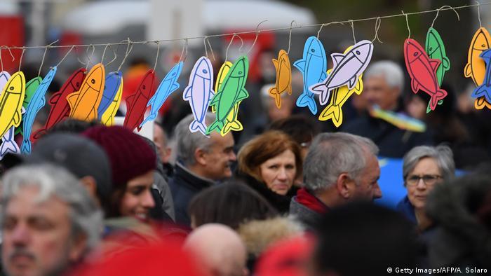 Italien, Bologna: Sardinen-Bewegung (Getty Images/AFP/A. Solaro)
