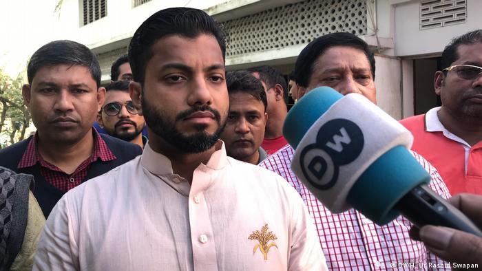 Bangladesch Dhaka | Bürgermeister-Wahl | Ishraq Hossain, Kandidat (DW/H. Ur Rashid Swapan)