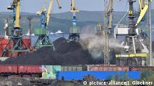 Russland Kohlehafen Murmansk