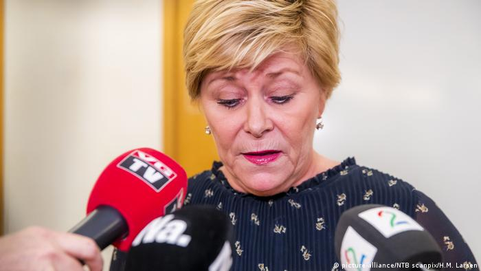 Norway Finance Minister Siv Jensen and the head of the populist Progress Party