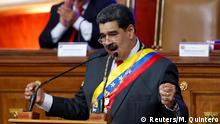 January 14, 2020*** Venezuela's President Nicolas Maduro delivers his annual state of the nation speech during a special session of the National Constituent Assembly, in Caracas, Venezuela January 14, 2020. REUTERS/Manaure Quintero