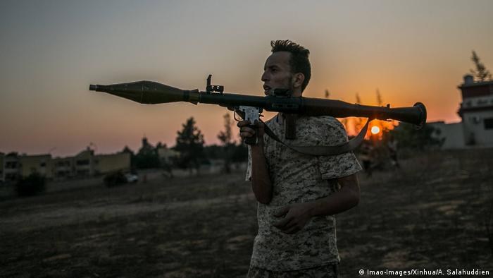 A fighter of Libya s UN-backed Government of National Accord