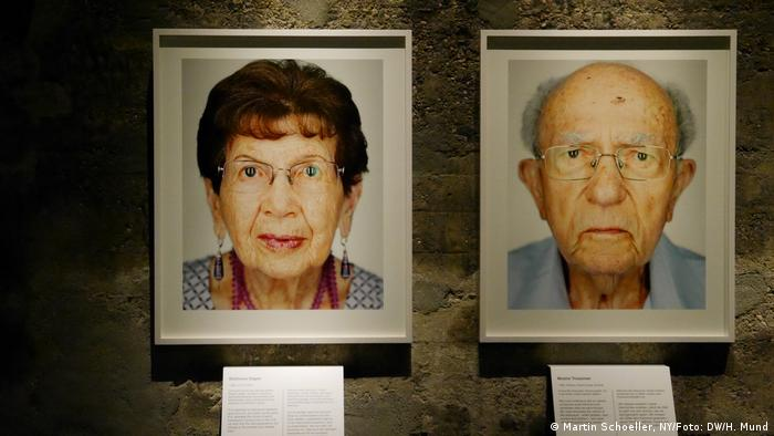 Batsheva (izqda.) nació en Lodz, Polonia. Sobrevivió al gueto de Varsovia y trabajó bajo nombre falso para una familia nazi en Schweina. Moshe Trossmann también nació en Polonia, en Rotkina.