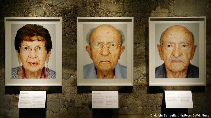 Three photos from the series Survivors by Martin Schoeller